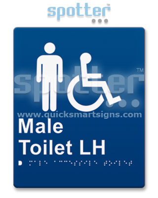 Male Wheelchair Toilet Door Sign and Entry Sign