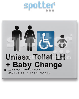 Male | Female Disabled Baby Toilet Door Sign and Entry Sign